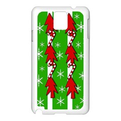 Christmas pattern - green Samsung Galaxy Note 3 N9005 Case (White)