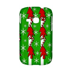 Christmas pattern - green Samsung Galaxy S6310 Hardshell Case
