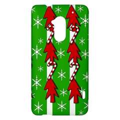 Christmas pattern - green HTC One Max (T6) Hardshell Case