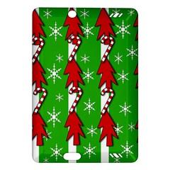 Christmas pattern - green Amazon Kindle Fire HD (2013) Hardshell Case