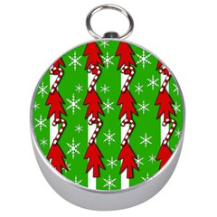 Christmas pattern - green Silver Compasses