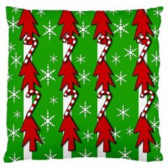 Christmas pattern - green Standard Flano Cushion Case (Two Sides)