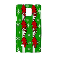 Christmas pattern - green Samsung Galaxy Note 4 Hardshell Case