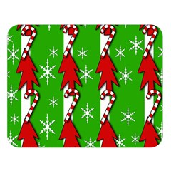 Christmas pattern - green Double Sided Flano Blanket (Large)