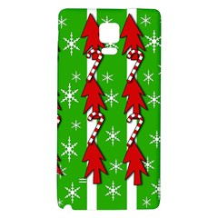 Christmas pattern - green Galaxy Note 4 Back Case