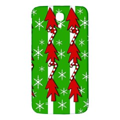 Christmas pattern - green Samsung Galaxy Mega I9200 Hardshell Back Case