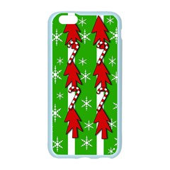 Christmas pattern - green Apple Seamless iPhone 6/6S Case (Color)