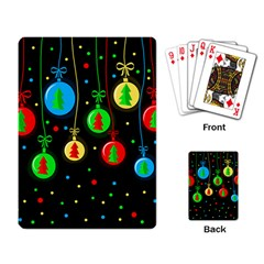 Christmas balls Playing Card