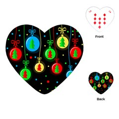 Christmas balls Playing Cards (Heart)