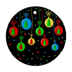 Christmas balls Round Ornament (Two Sides)