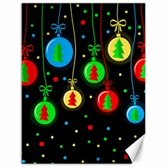 Christmas balls Canvas 12  x 16