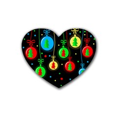 Christmas balls Heart Coaster (4 pack)