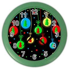 Christmas balls Color Wall Clocks