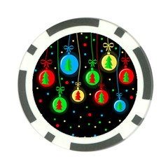 Christmas balls Poker Chip Card Guards (10 pack)