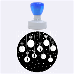 Christmas balls Rubber Round Stamps (Large)