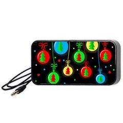 Christmas balls Portable Speaker (Black)