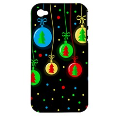 Christmas balls Apple iPhone 4/4S Hardshell Case (PC+Silicone)