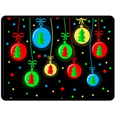 Christmas balls Double Sided Fleece Blanket (Large)