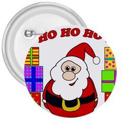 Santa Claus pattern - transparent 3  Buttons