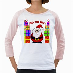 Santa Claus pattern - transparent Girly Raglans