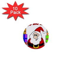 Santa Claus pattern - transparent 1  Mini Buttons (10 pack)