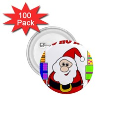 Santa Claus pattern - transparent 1.75  Buttons (100 pack)