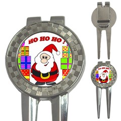 Santa Claus pattern - transparent 3-in-1 Golf Divots