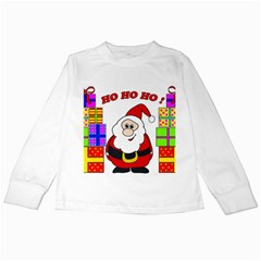 Santa Claus pattern - transparent Kids Long Sleeve T-Shirts