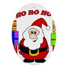 Santa Claus pattern - transparent Oval Ornament (Two Sides)