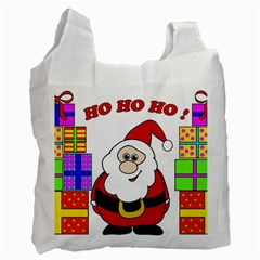 Santa Claus pattern - transparent Recycle Bag (One Side)