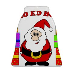 Santa Claus pattern - transparent Bell Ornament (2 Sides)