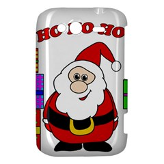 Santa Claus pattern - transparent HTC Wildfire S A510e Hardshell Case