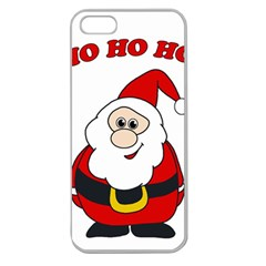 Santa Claus pattern - transparent Apple Seamless iPhone 5 Case (Clear)