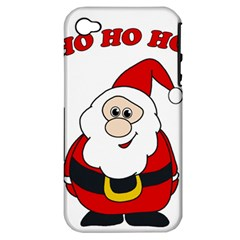 Santa Claus pattern - transparent Apple iPhone 4/4S Hardshell Case (PC+Silicone)