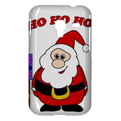 Santa Claus pattern - transparent Samsung Galaxy Ace Plus S7500 Hardshell Case