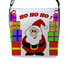 Santa Claus pattern - transparent Flap Messenger Bag (L)