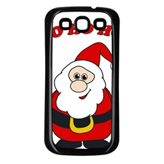 Santa Claus pattern - transparent Samsung Galaxy S3 Back Case (Black)