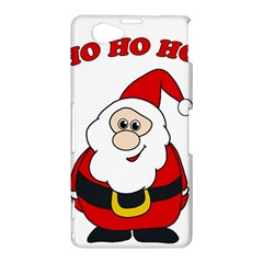 Santa Claus pattern - transparent Sony Xperia Z1 Compact
