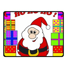 Santa Claus pattern - transparent Double Sided Fleece Blanket (Small)