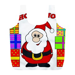 Santa Claus pattern - transparent Full Print Recycle Bags (L)