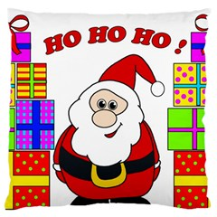 Santa Claus pattern - transparent Large Flano Cushion Case (Two Sides)