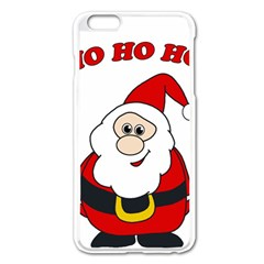 Santa Claus pattern - transparent Apple iPhone 6 Plus/6S Plus Enamel White Case