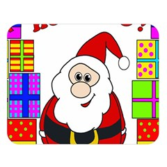 Santa Claus pattern - transparent Double Sided Flano Blanket (Large)
