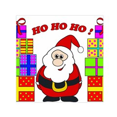 Santa Claus pattern - transparent Small Satin Scarf (Square)