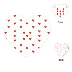 Cute Hearts Motif Pattern Playing Cards (heart)