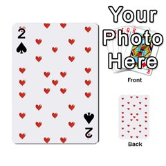Cute Hearts Motif Pattern Playing Cards 54 Designs