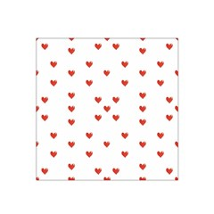 Cute Hearts Motif Pattern Satin Bandana Scarf