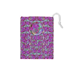 Paradise Of Wonderful Flowers In Eden Drawstring Pouches (small)