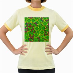 Christmas decor - green Women s Fitted Ringer T-Shirts