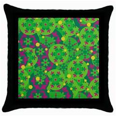 Christmas decor - green Throw Pillow Case (Black)